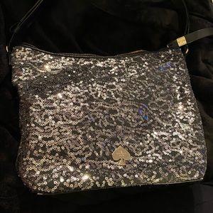 Kate spade silver sequin convertible shoulder bag